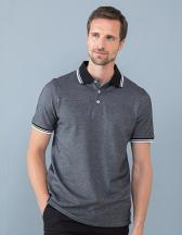 Men`s 2-Tone Pique Tipped Polo Shirt