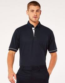 Classic Fit Button Down Collar Contrast Polo Shirt